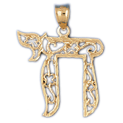 14K Gold Chai Life Pendant Jewelry - Mitzvahland.com All your Judaica Needs!