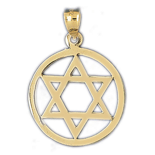 14K Gold Encircled Jewish Star of David Charm Jewelry - Mitzvahland.com All your Judaica Needs!