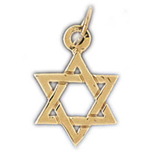 14K Gold Star of David Charm Jewelry - Mitzvahland.com All your Judaica Needs!