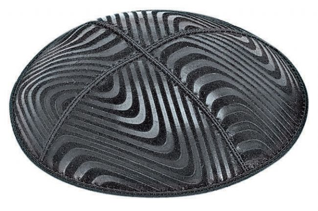 Waves Embossed Kippah