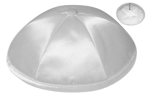Light Grey Deluxe Satin Kippah - Per Piece