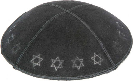 Star of David Border Embossed Kippah