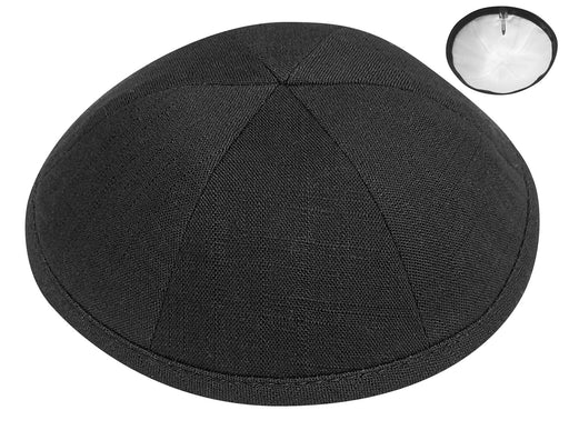 Black Linen Kippah Kippot / Yarmulkes - Mitzvahland.com All your Judaica Needs!