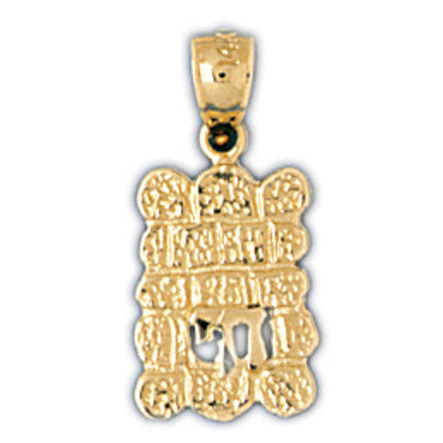 14K Yellow Gold Jewish Chai Charm Jewelry - Mitzvahland.com All your Judaica Needs!