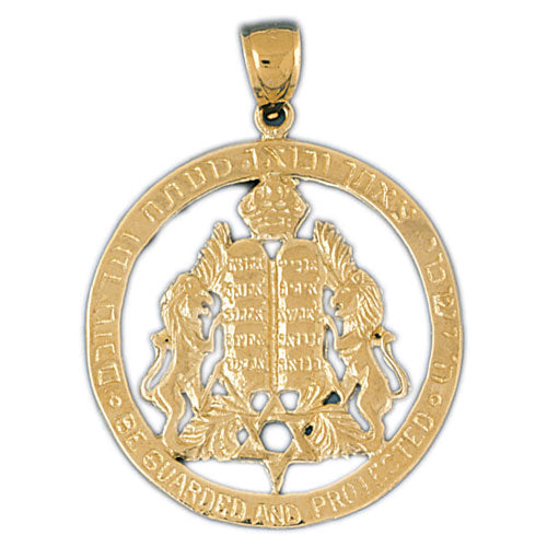 14k Gold Ten Commandments & Star Of David Charm Jewelry - Mitzvahland.com All your Judaica Needs!