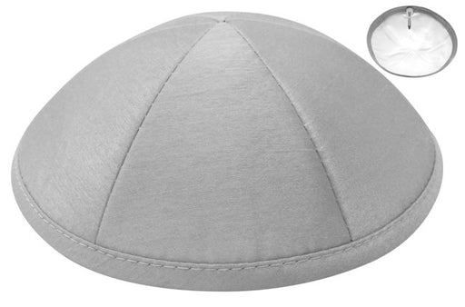 Lt. Grey Raw Silk Kippah