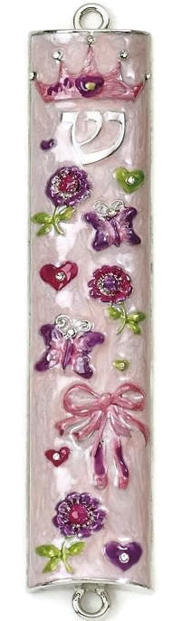 Princess Enameled Mezuzah