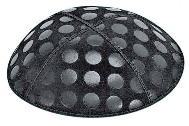 Large Dots Embossed Kippah