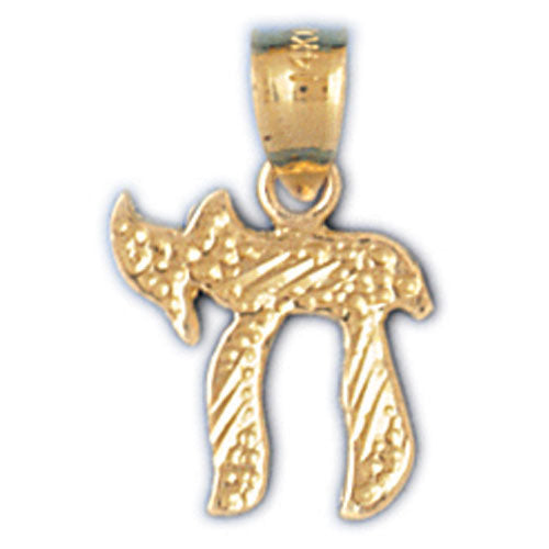 14K Gold Jewish Chai Charm Jewelry - Mitzvahland.com All your Judaica Needs!