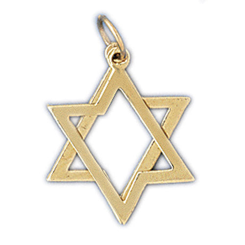 14K Gold Star of David Jewish 2 Piece of Charm Jewelry - Mitzvahland.com All your Judaica Needs!