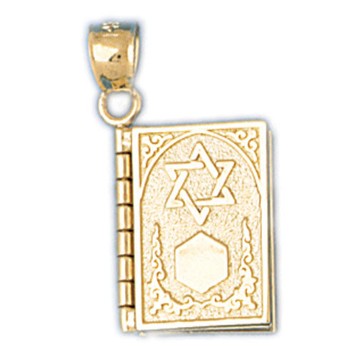 14K 3-D Ten Commandments Book (available in English and Hebrew) Jewelry - Mitzvahland.com All your Judaica Needs!