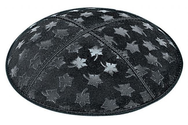 Leaves Embossed Kippah