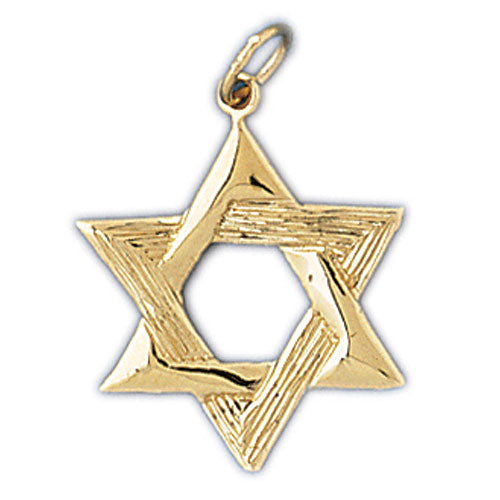 14K Gold Jewish Star of David Pendant Jewelry - Mitzvahland.com All your Judaica Needs!