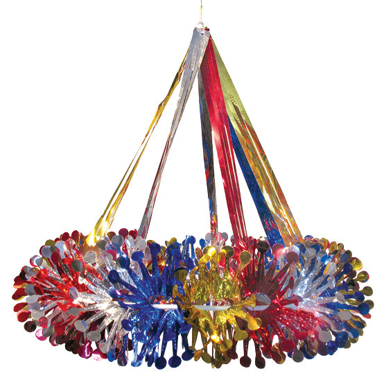 Multi Colored Chandelier - 17""
