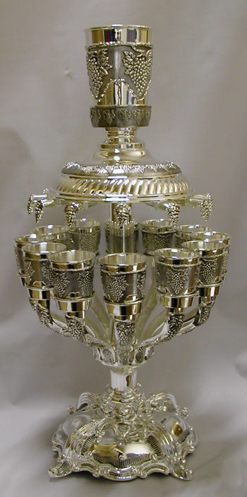 Kiddush Fountain  12 cups - Silver Plated