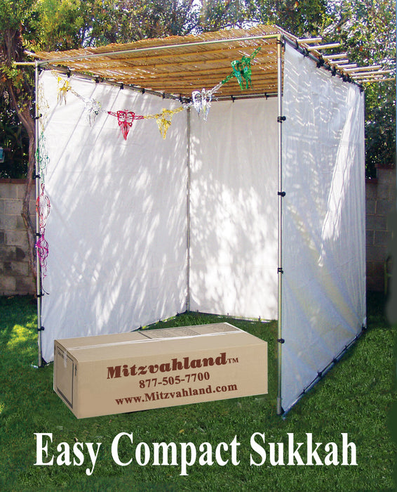 Extra Large Sukkah Kits 20 x 20  <BR>Easy Compact Sukah - Certified Kosher Easy Compact Sukkahs (Succot / Sukkot) FREE SHIPPING Guaranteed Same Day Shipping - Mitzvahland.com All your Judaica Needs!