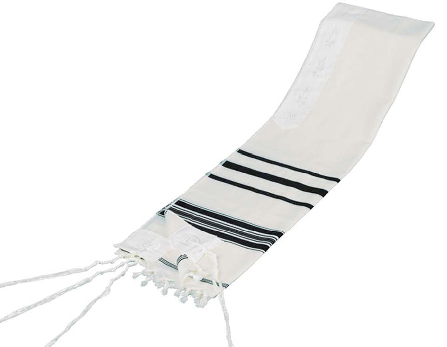 Black and White Stripes Classic Tallit Black And White Stripes Talit - Mitzvahland.com All your Judaica Needs!