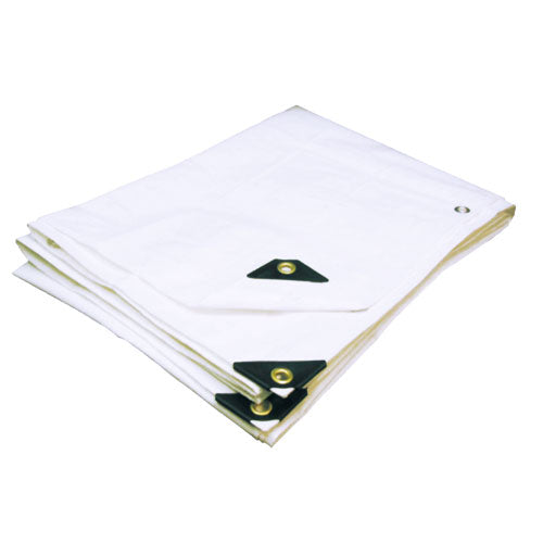 "White Tarp Extra Heavy Duty - 08 X 10 (Finished Size 7'6""x9'6"")"