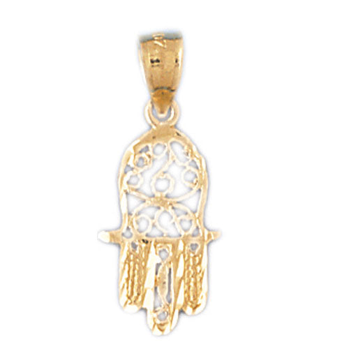 14K Gold Hamsa Hand Charm Jewelry - Mitzvahland.com All your Judaica Needs!
