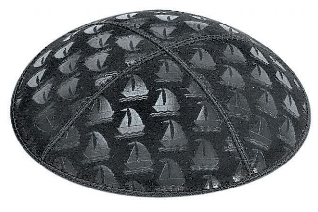 Sailboats Embossed Kippah