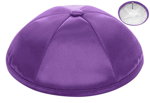 Medium Purple Deluxe Satin Kipah - Per Piece