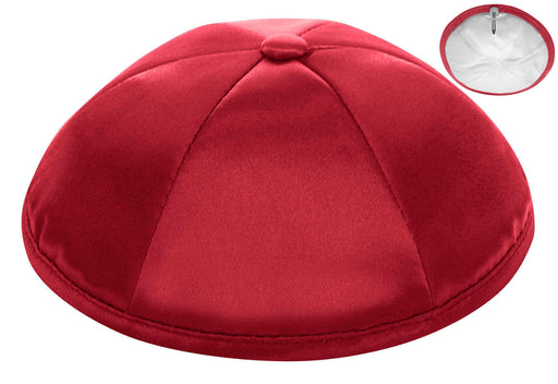 Red Deluxe Satin Kippah - Per Piece
