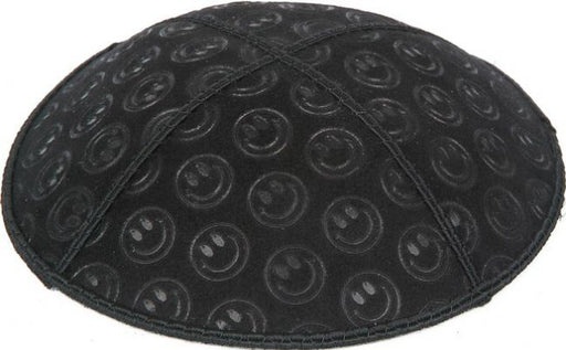 Smiley Embossed Kippah