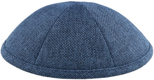 Burlap Kippah Navy  - Mitzvahland.com All your Judaica Needs!
