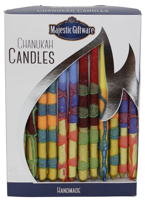 "Chanukah Candles - Executive Collection 45 Pack - Blue/Yellow/Orange - 6""  - Mitzvahland.com All your Judaica Needs!"