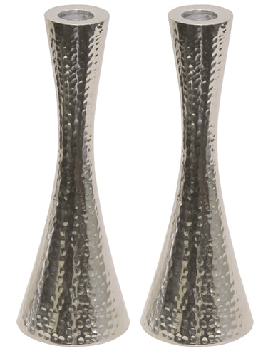 Candle Sticks Hammered Nickel
