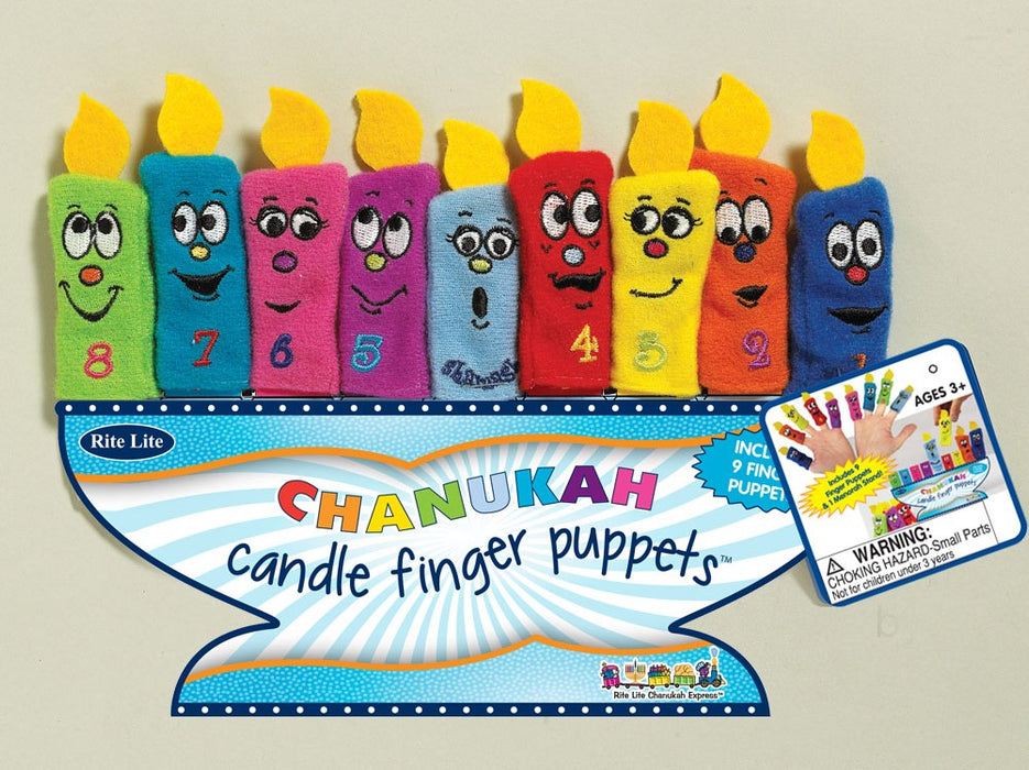 Set of 9 Chanukah Candle Finger Puppets