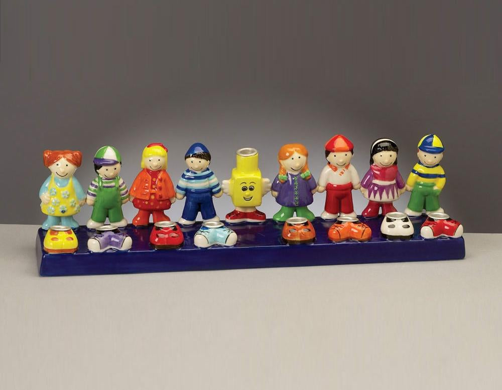 Friends Ceramic Menorah - Hand Painted Menorah - Mitzvahland.com All your Judaica Needs!