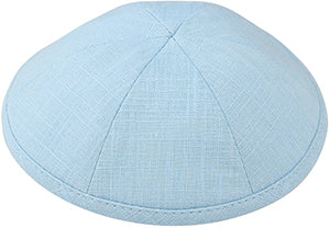 Light Blue Linen Kippah