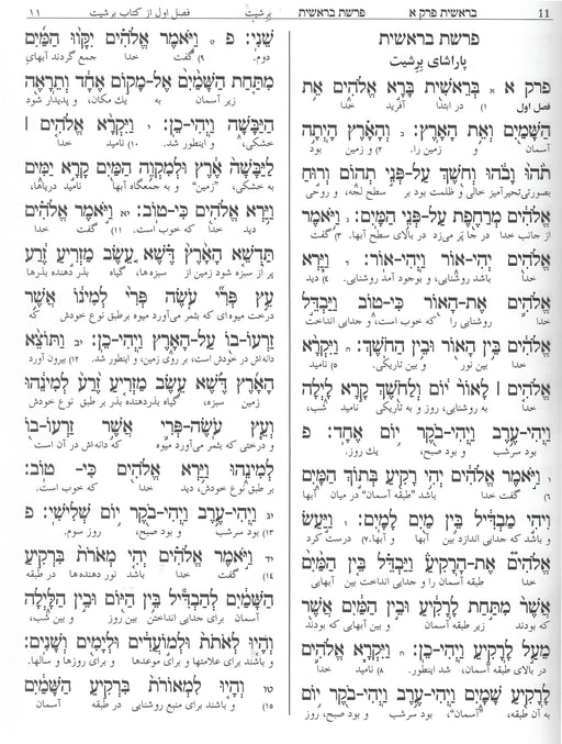 Interlinear Persian Torah - Leather