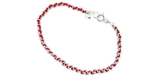 925 Sterling Silver Red String Kabbalah Bracelet From The Holy Land