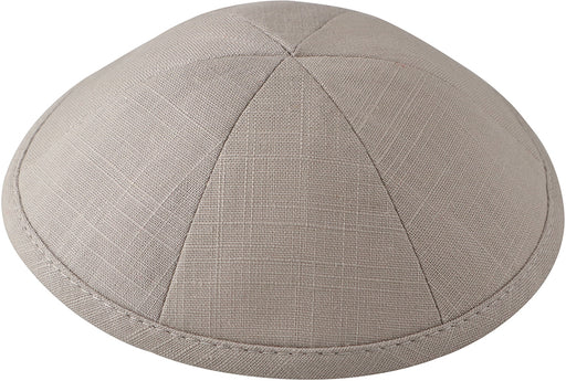 Light Grey Linen Kippah