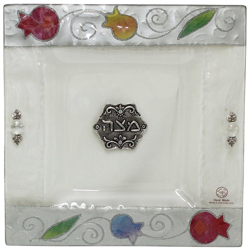 Tulip Seder Plate Glass Square