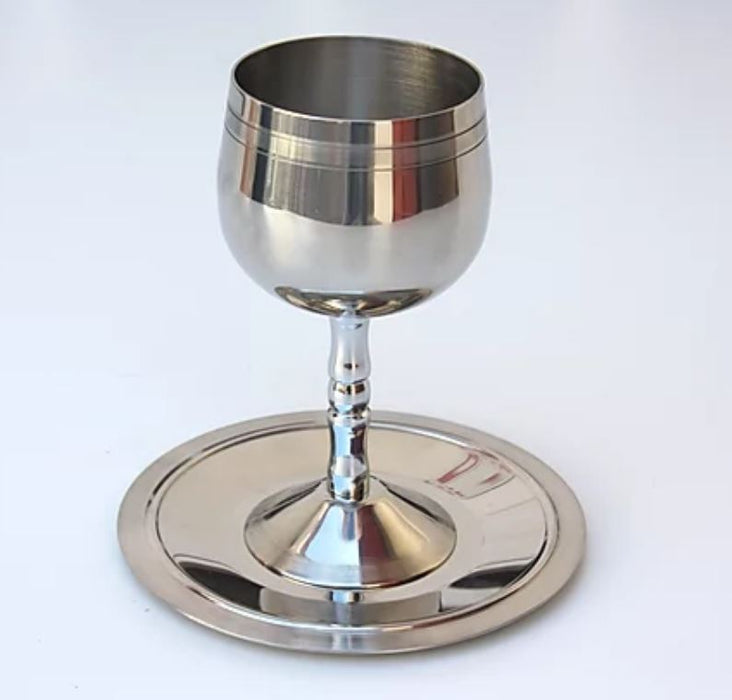 Stainless Steel Silver Kiddush Cup