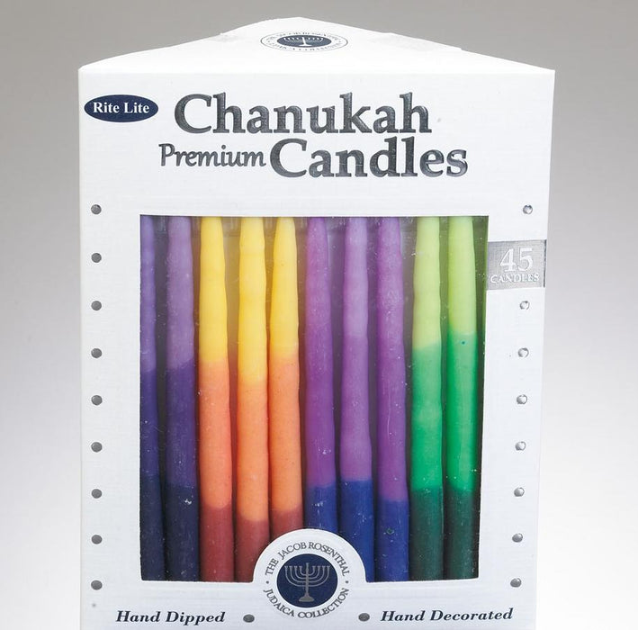 Premium Chanukah Candles - Tri-Color