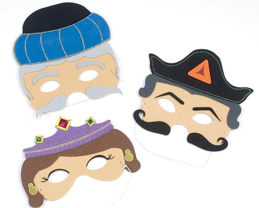 Purim Masks - Esther, Haman & Mordechai Set of 3