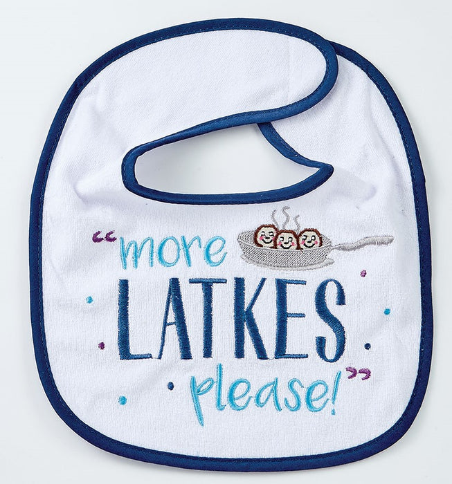 """I Love You A Latke"" Chanukah Bib"