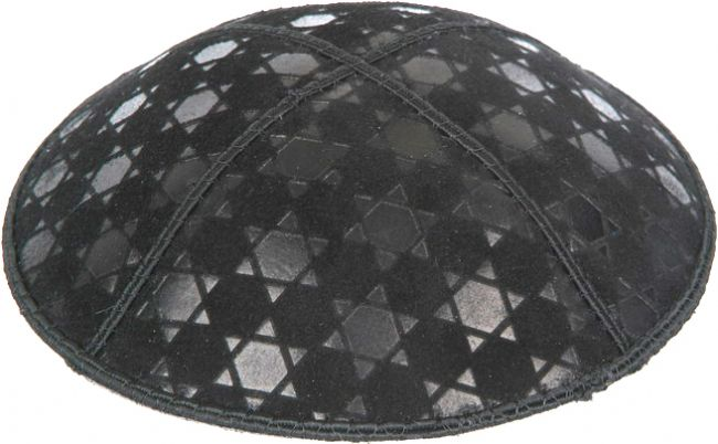 Star of David 3 Embossed Kippah
