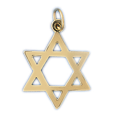 14K Gold Star of David Jewish Star Charm Jewelry - Mitzvahland.com All your Judaica Needs!