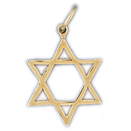 14K Gold Jewish Star of David Charm Jewelry - Mitzvahland.com All your Judaica Needs!