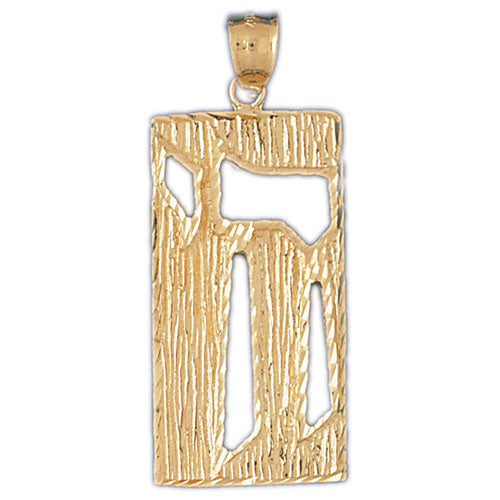 14K Gold Chai Pendant Jewelry - Mitzvahland.com All your Judaica Needs!