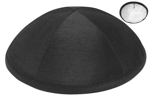 Black Raw Silk Kippah Kippot / Yarmulkes - Mitzvahland.com All your Judaica Needs!