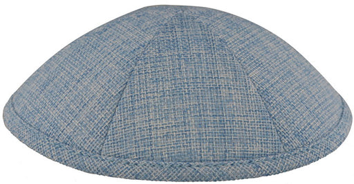 Burlap Kippah Light Blue  - Mitzvahland.com All your Judaica Needs!