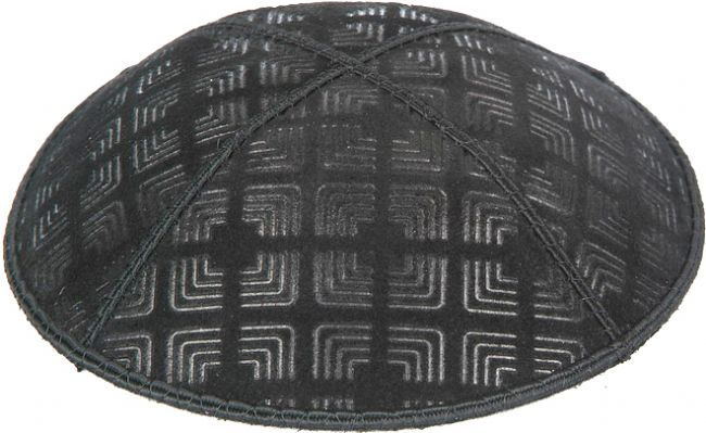 Embossed Kippah Corners Kippot / Yarmulkes - Mitzvahland.com All your Judaica Needs!