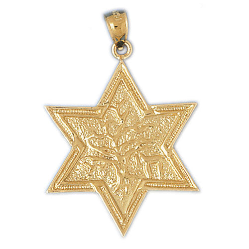 14K Gold Star of David 14K Gold w/Tree of Life Pendant Jewelry - Mitzvahland.com All your Judaica Needs!