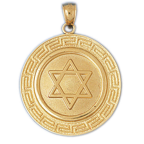 14K Gold Star of David Jewish Star Medallion Jewelry - Mitzvahland.com All your Judaica Needs!